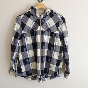 Woolrich plaid zip up lightweight jacket